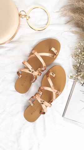 Ryla Rose Gold Metallic Sandal