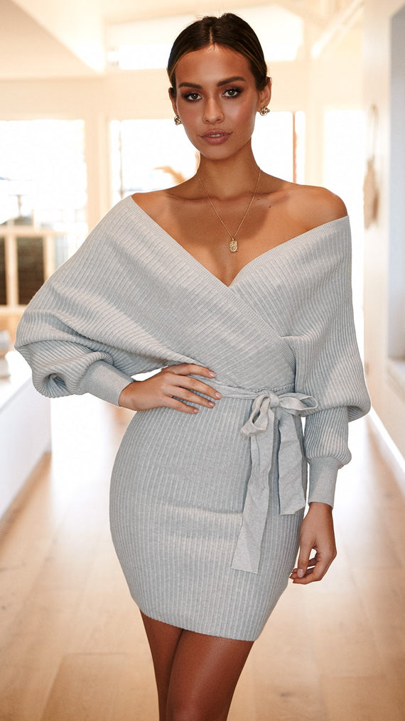 Bespoke Knit Dress - Grey