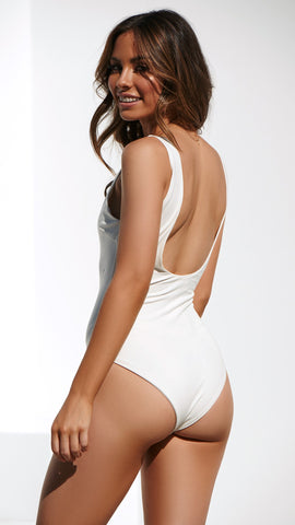 No Promises Bodysuit - White