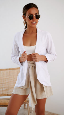 Ray of Light Blazer - White