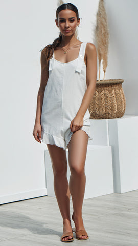 NEVADA Playsuit - White