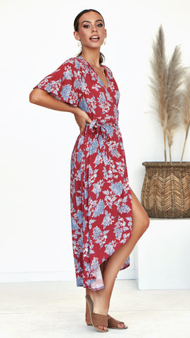 Zetta Wrap Maxi Dress