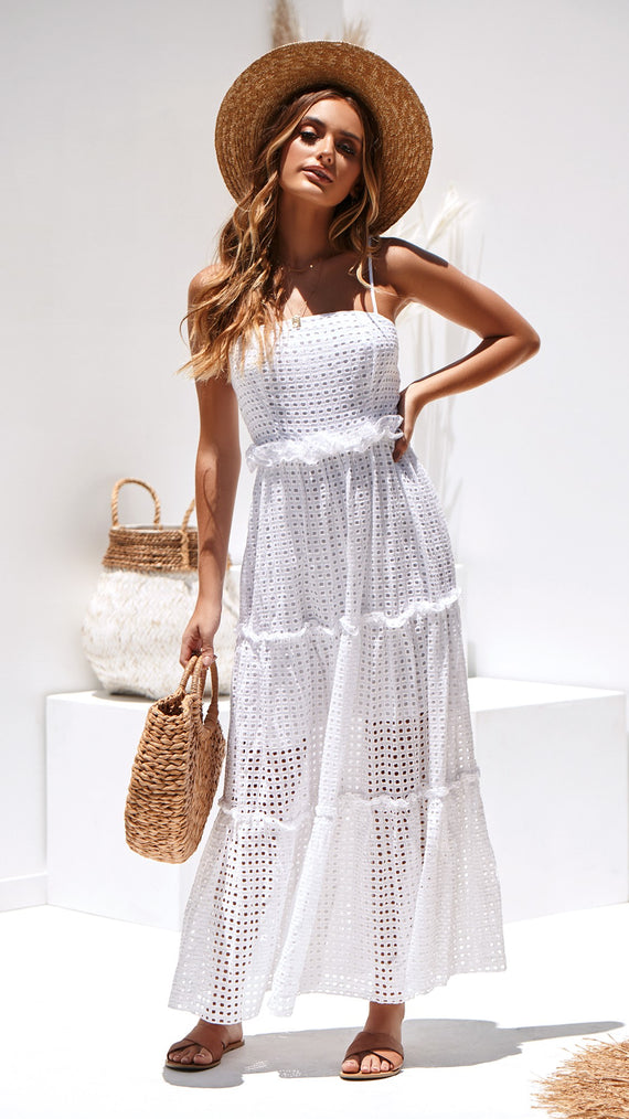 Antigua Dress - White