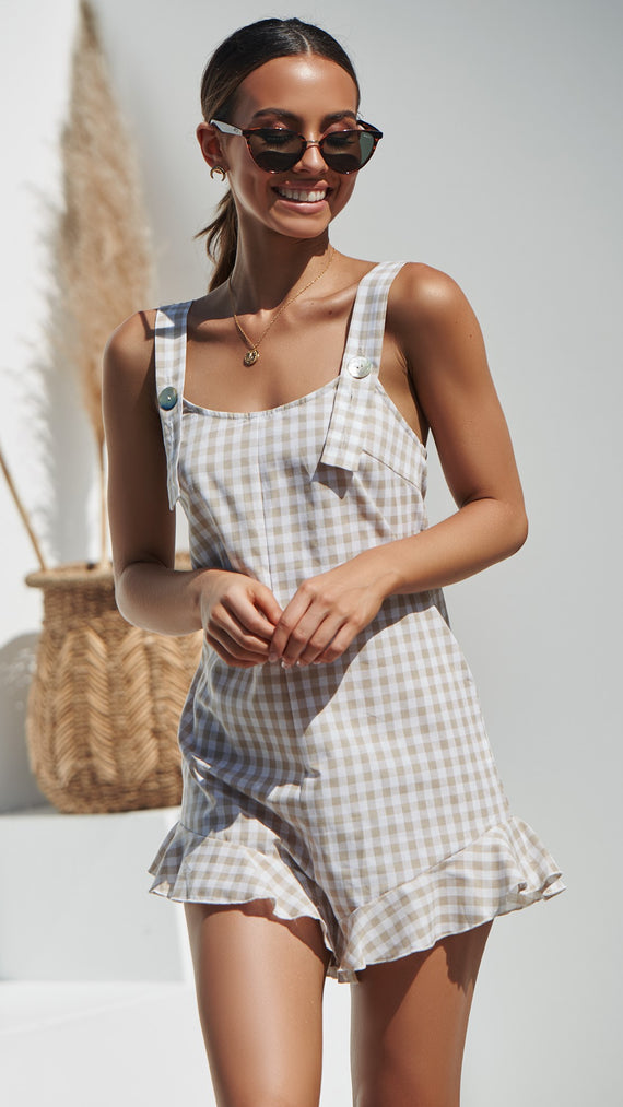 NEVADA Playsuit - Gingham