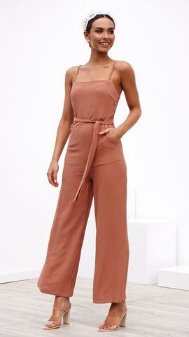 Pure Bliss Jumpsuit - Tangerine