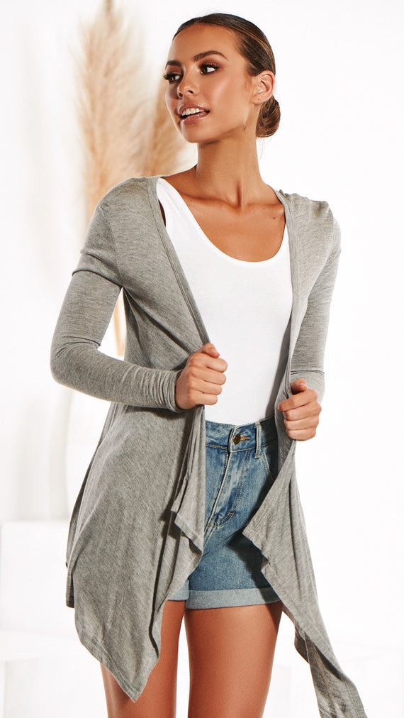 Melbourne Cardigan - Grey