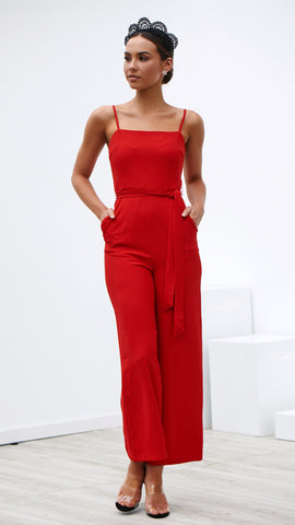 Pure Bliss Jumpsuit - Red
