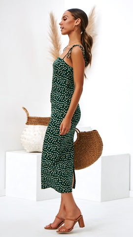 Keira Dress - Emerald