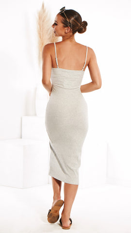 Rowe Dress - Grey Marle