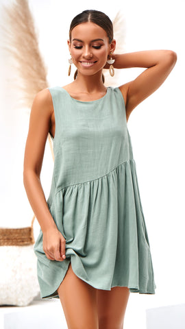 Nisha Dress - Sage