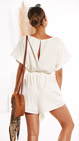 Marlow Playsuit - White