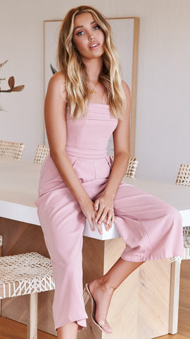 Corrie Jumpsuit - Blush