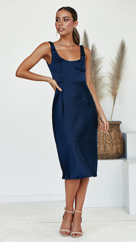 Hey Darling Dress - Navy