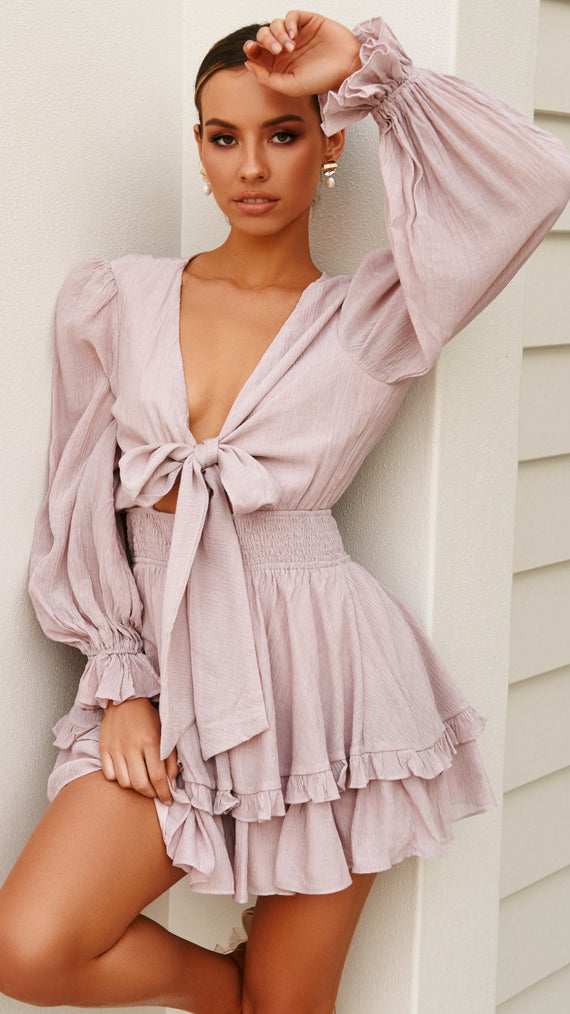 Windswept Dress - Blush
