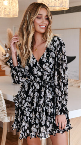Falling for Paris Dress - Black