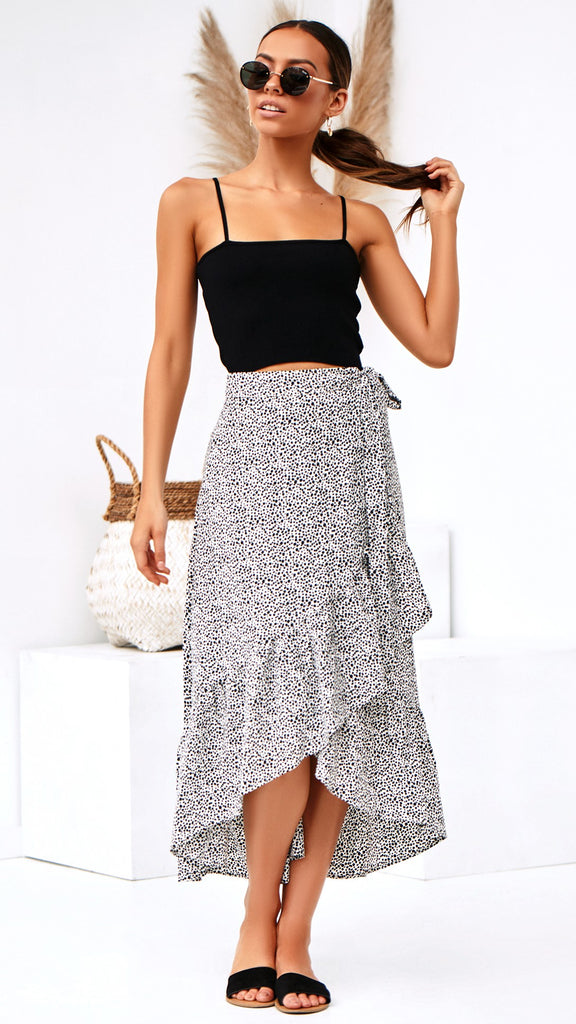 Brooklyn Skirt - White Pebble