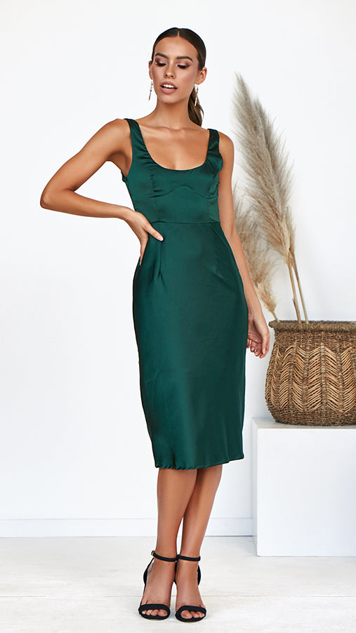 Hey Darling Dress - Forest Green