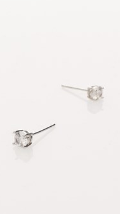 CZ MINI STUD EARRINGS - SILVER/CRYSTAL
