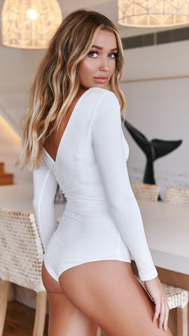 On the Level Bodysuit - White