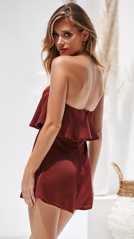 Lucy Playsuit - Wine