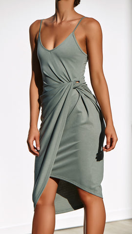 Midnight Celebration Dress - Moss
