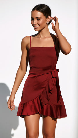 CANDICE Dress - Wine