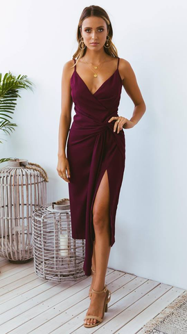 Rhemi Dress - Wine