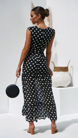 Polo Maxi Dress - Black