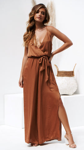 Estelle Jumpsuit - Tan