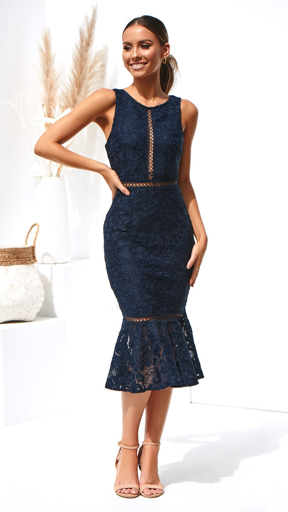 Angelina Dress - Navy