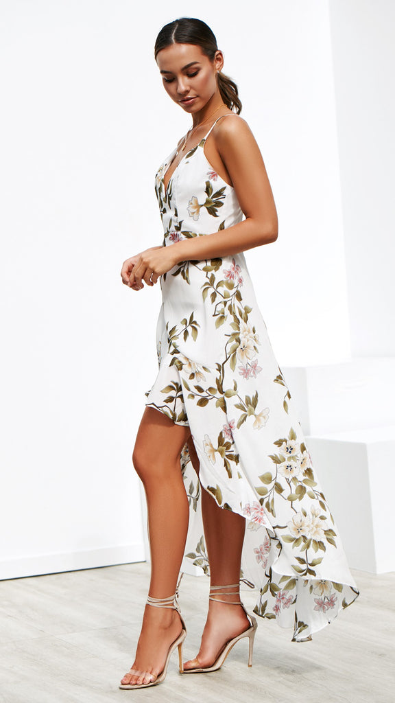 Magnetic Attraction Dress - White