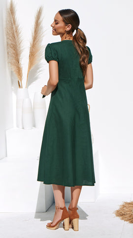 Eddie Dress - Forest Green