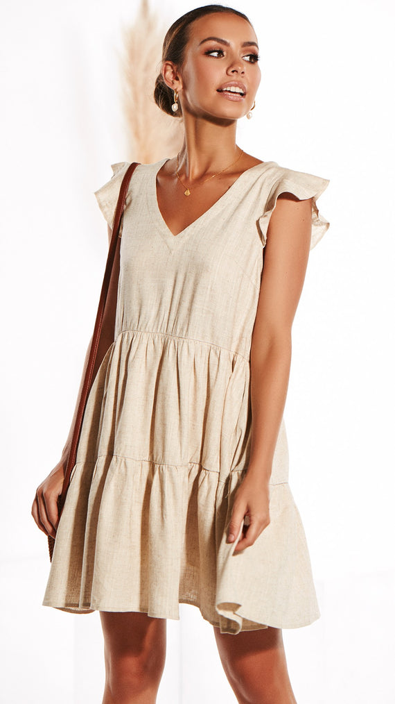 Wild Thing Linen Dress - Natural