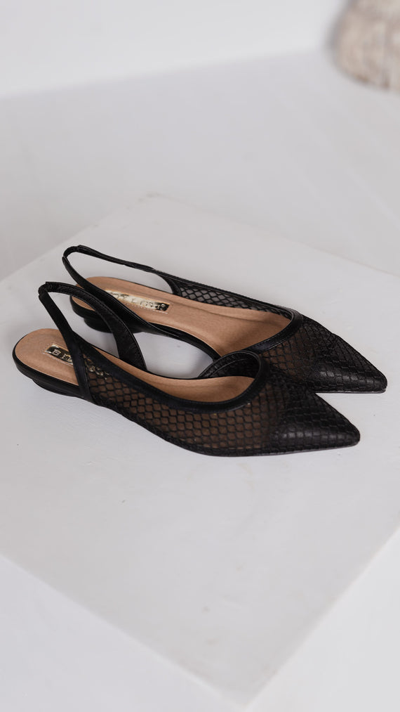 Cece Slides - Black Mesh