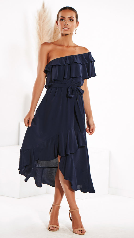 Got You On My Mind Dress - Navy