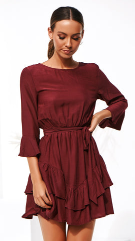 Ainsley Dress - Wine