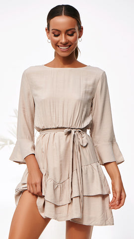 Ainsley Dress - Beige