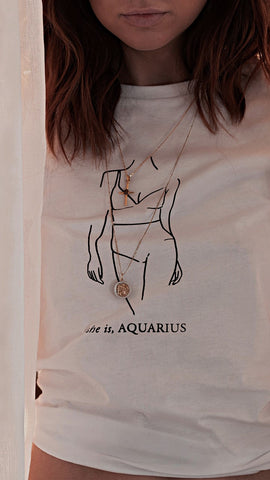 She Is - Aquarius Tee