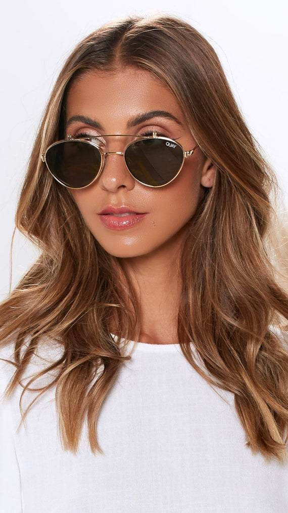 aeeae8c08b1 Elle Sunglasses - Gold and Green
