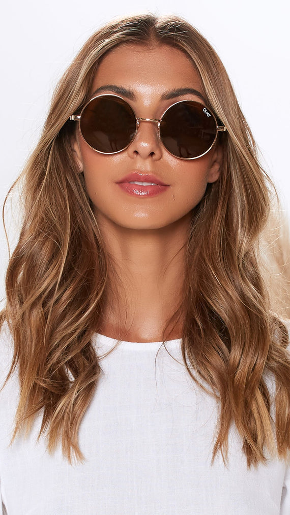 Quay Sunglasses - Electric Dreams - Rose Gold/Brown