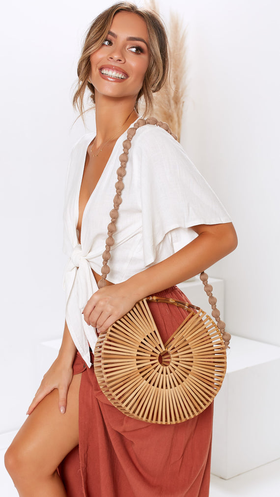 Daybreak Structured Timber Bag