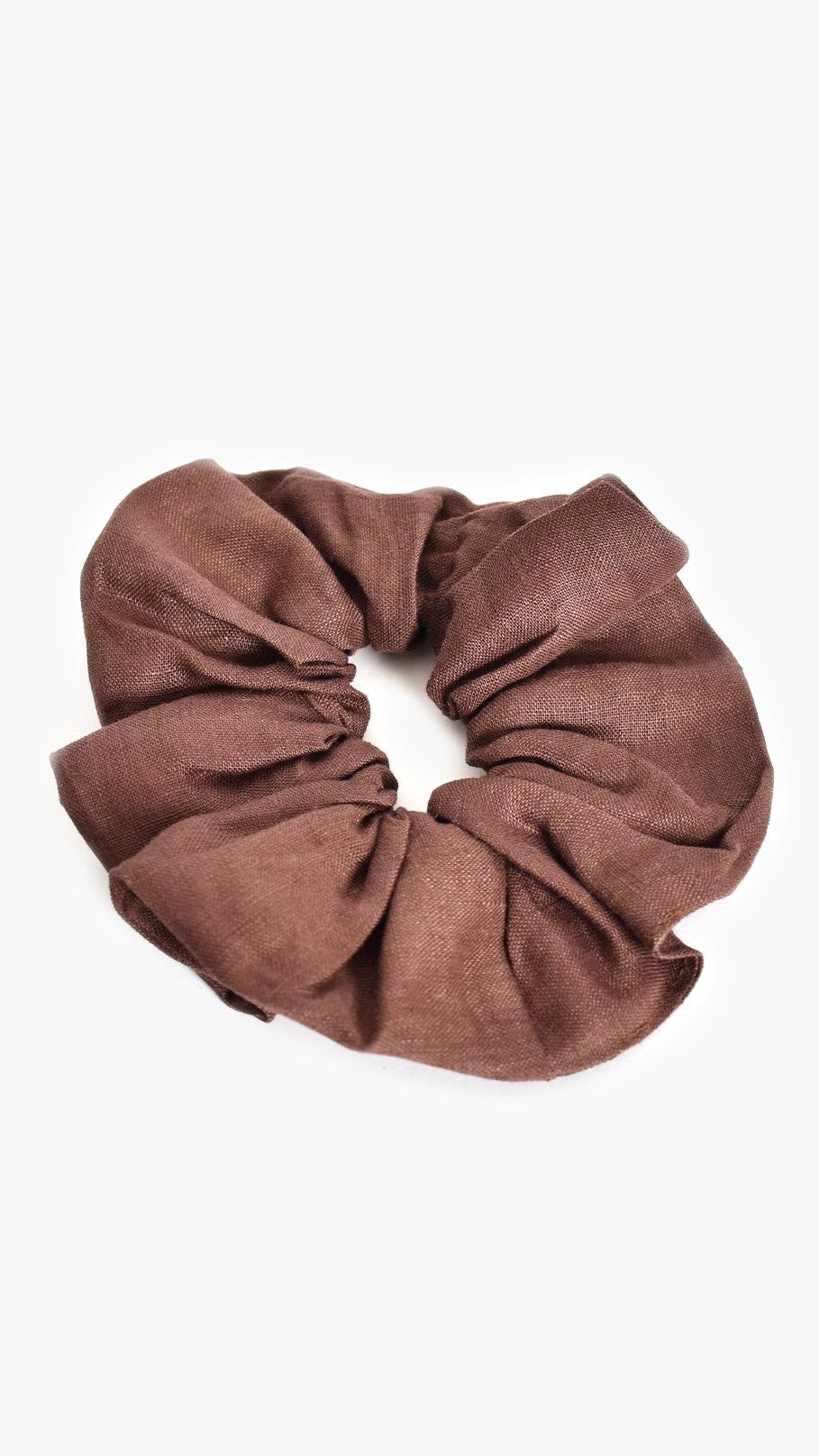 Supersize Linen Scrunchie - Chocolate