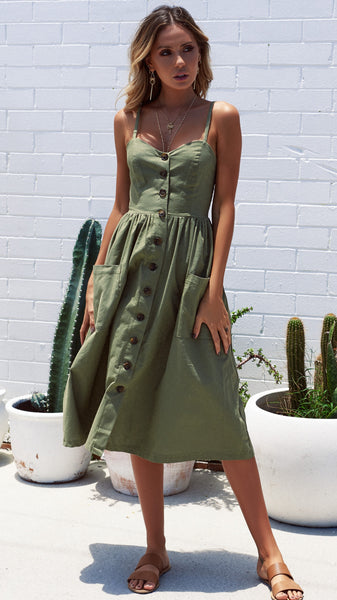 Boston Dress - Khaki - Restocked