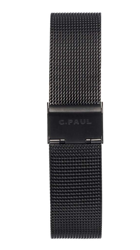 CHRISTIAN PAUL 43MM MESH STRAP BLACK
