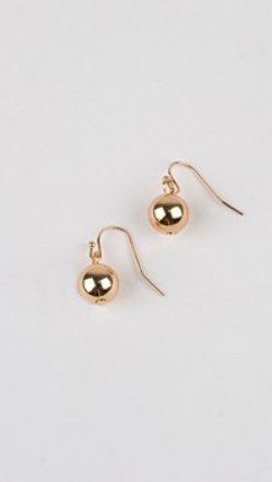 10MM BALL HOOK EARRINGS - Gold