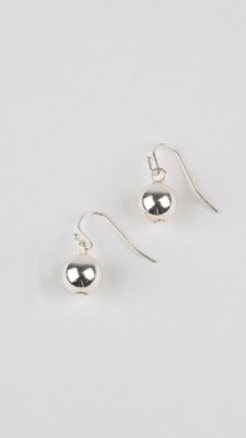 10MM BALL HOOK EARRINGS - Silver