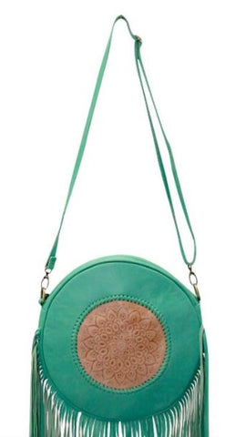 TARNIA ROUND TASSEL BAG / BACKPACK - Green