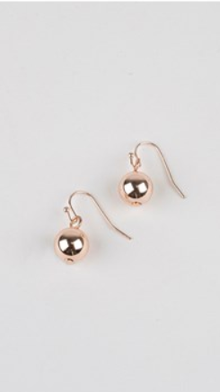 10mm Ball Hook Earrings - Rose Gold