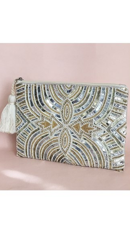 Bombay Nights Sequin Clutch