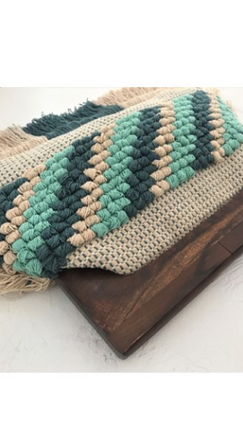 Amalfi Clutch - Green/Natural
